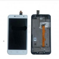 LCD + Touch Alcatel 6016 с рамка original - бял