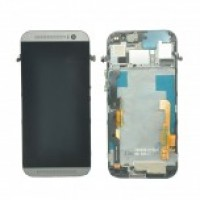 LCD + Touch HTC One/M7 с рамка - златен
