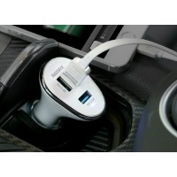 12V REMAX only the head 3 USB 6.3A black