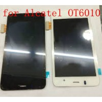 LCD + Touch Alcatel 6010 с рамка - бял